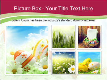 Easter Eggs and Camomiles PowerPoint Template - Slide 19