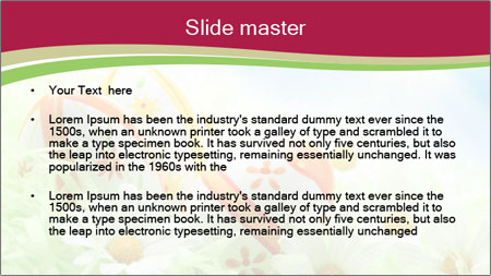 Easter Eggs and Camomiles PowerPoint Template - Slide 2