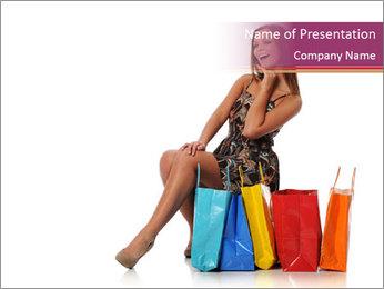 Happy Shopaholic PowerPoint Templates - Slide 1