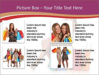 Happy Shopaholic PowerPoint Templates - Slide 14