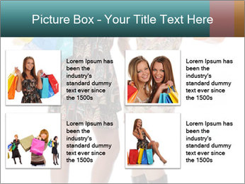 Two Happy Shopaholics PowerPoint Template - Slide 14