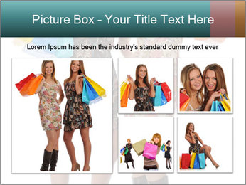 Two Happy Shopaholics PowerPoint Template - Slide 19