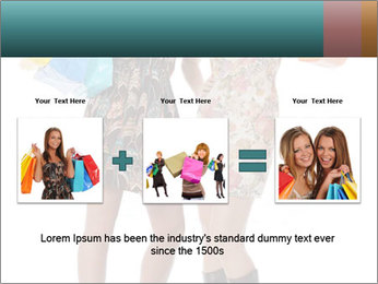 Two Happy Shopaholics PowerPoint Template - Slide 22