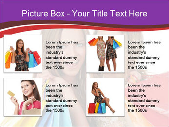 Two Friends Shopaholics PowerPoint Templates - Slide 14