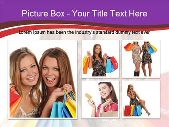 Two Friends Shopaholics PowerPoint Templates - Slide 19
