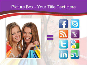 Two Friends Shopaholics PowerPoint Templates - Slide 21