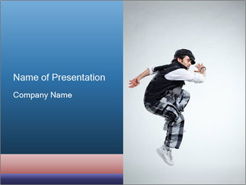 Italian Breakdancer PowerPoint Template - Slide 1