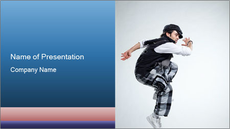 Italian Breakdancer PowerPoint Template