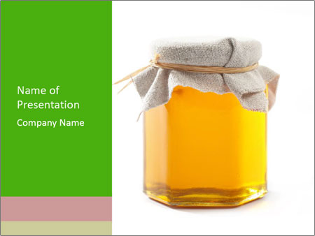 Cute Honey Jar PowerPoint Template