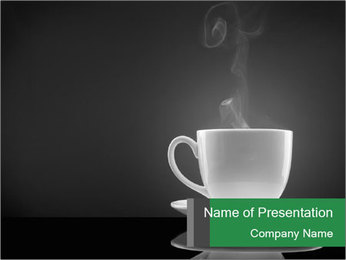 White Coffee Cup PowerPoint Templates - Slide 1
