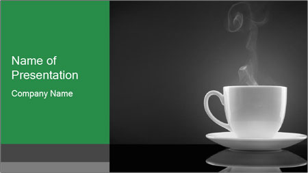 White Coffee Cup PowerPoint Template