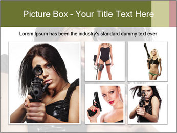 Woman Sniper PowerPoint Templates - Slide 19