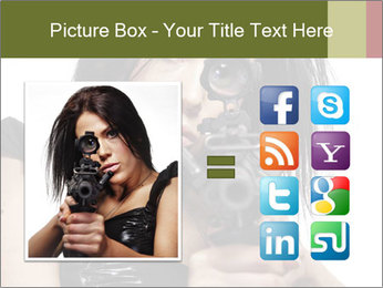 Woman Sniper PowerPoint Templates - Slide 21