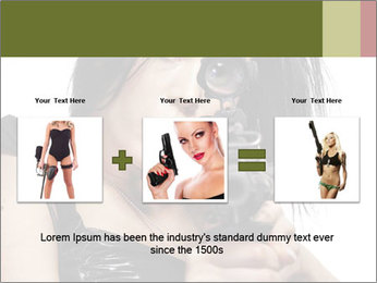 Woman Sniper PowerPoint Templates - Slide 22