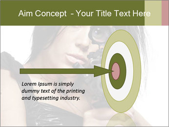 Woman Sniper PowerPoint Templates - Slide 83