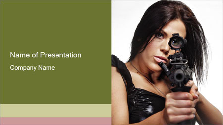 Woman Sniper PowerPoint Template