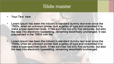 Woman Sniper PowerPoint Template - Slide 2
