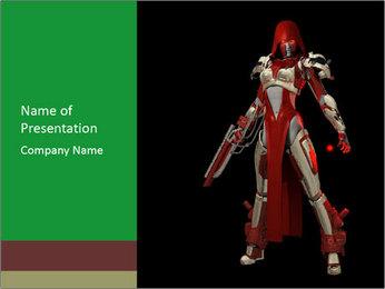 Big Red Robot PowerPoint Template - Slide 1