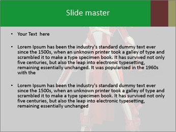 Big Red Robot PowerPoint Template - Slide 2