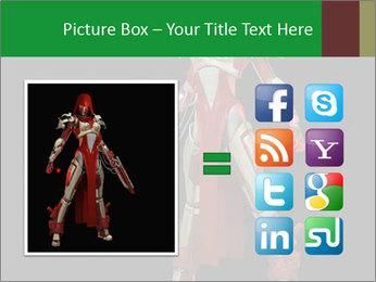 Big Red Robot PowerPoint Template - Slide 21