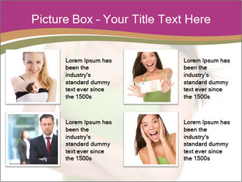 Young Woman in Green Top PowerPoint Templates - Slide 14