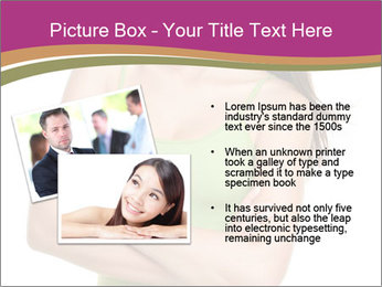 Young Woman in Green Top PowerPoint Templates - Slide 20