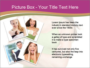 Young Woman in Green Top PowerPoint Templates - Slide 23