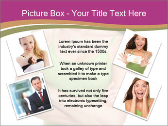 Young Woman in Green Top PowerPoint Templates - Slide 24