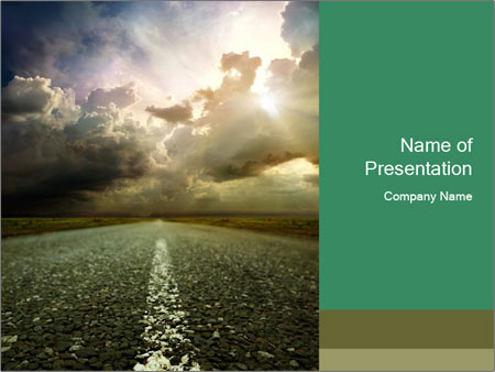 Sky on the Horizon PowerPoint Templates