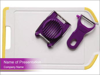 Kitchen Utensils for Cooking PowerPoint Templates - Slide 1