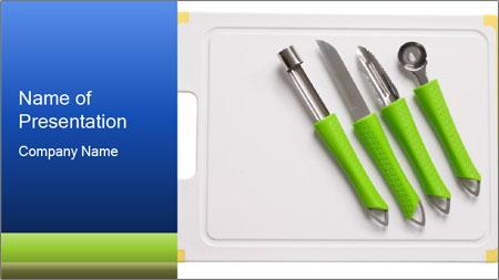 Green Kitchen Utensils PowerPoint Template