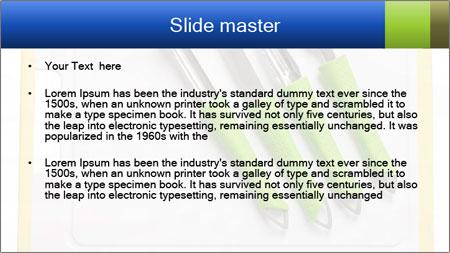 Green Kitchen Utensils PowerPoint Template - Slide 2