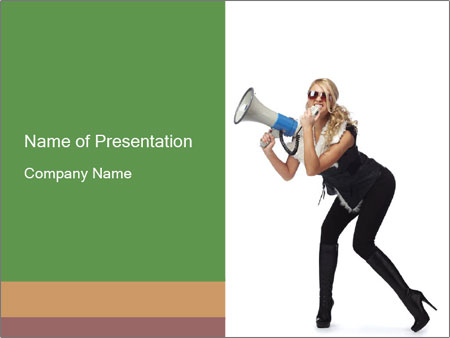 Fashion Model Makes Announcement PowerPoint Template