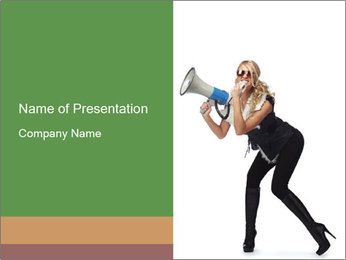 Fashion Model Makes Announcement PowerPoint Template - Slide 1