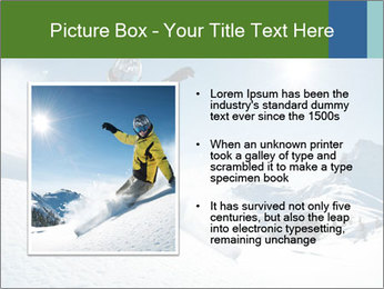Snowboard Action PowerPoint Template - Slide 13
