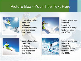 Snowboard Action PowerPoint Template - Slide 14
