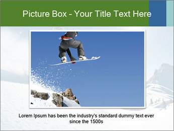 Snowboard Action PowerPoint Template - Slide 16