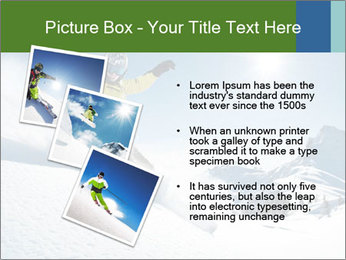 Snowboard Action PowerPoint Template - Slide 17