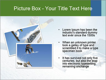 Snowboard Action PowerPoint Template - Slide 20