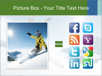 Snowboard Action PowerPoint Template - Slide 21