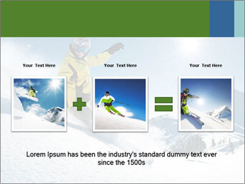 Snowboard Action PowerPoint Template - Slide 22