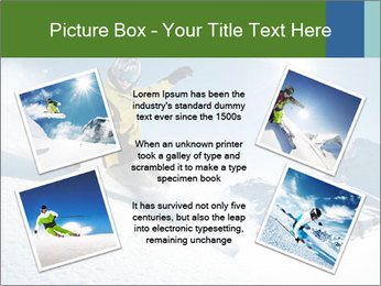 Snowboard Action PowerPoint Template - Slide 24