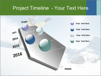 Snowboard Action PowerPoint Template - Slide 26