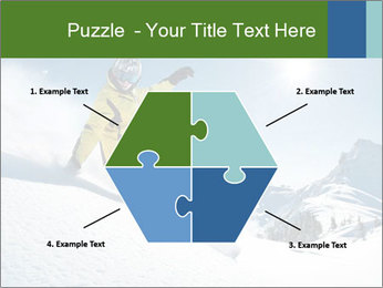Snowboard Action PowerPoint Template - Slide 40