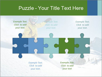 Snowboard Action PowerPoint Template - Slide 41