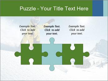 Snowboard Action PowerPoint Template - Slide 42