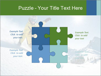 Snowboard Action PowerPoint Template - Slide 43