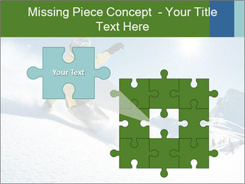 Snowboard Action PowerPoint Template - Slide 45