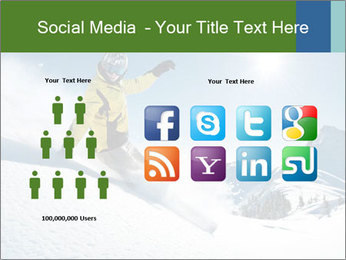 Snowboard Action PowerPoint Template - Slide 5