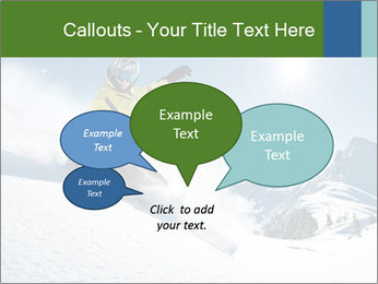 Snowboard Action PowerPoint Template - Slide 73